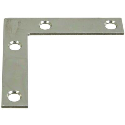 National Catalog 117 2-1/2 In. x 1/2 In. Zinc Flat Corner Iron