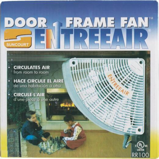 Suncourt 1-Speed Quarter-Circle White Door Frame Fan