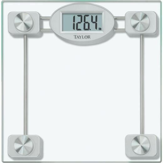 Taylor Digital 400 Lb. Glass Bath Scale, Clear