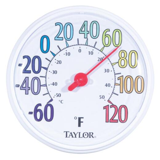 "Taylor 13-1/2"" Farenheit And Celsius -60 To 120 F, -50 To 50 C Outdoor Wall Thermometer"