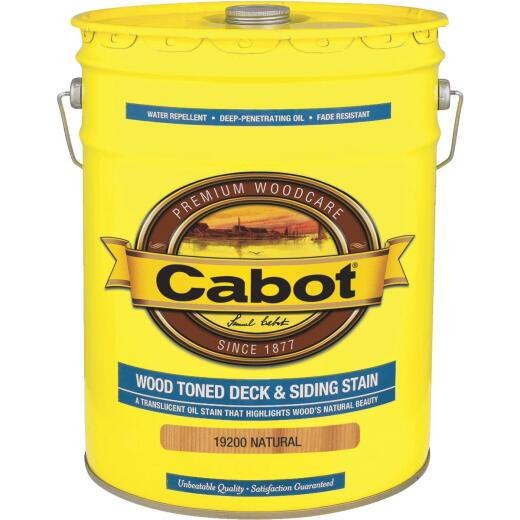 Cabot VOC Wood Toned Deck & Siding Exterior Stain, Natural, 5 Gal.
